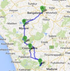 Ooty In India Map.Mysore Ooty Kodaikanal Travel Packages Coimbatore Banglore Tour